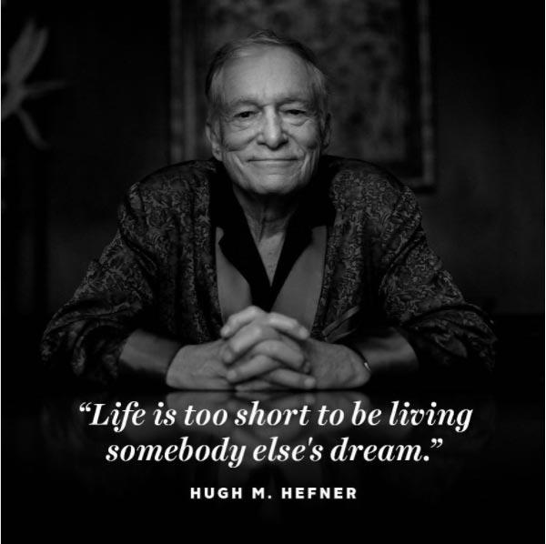 Hugh Hefner tribute (via playboy's twitter account)