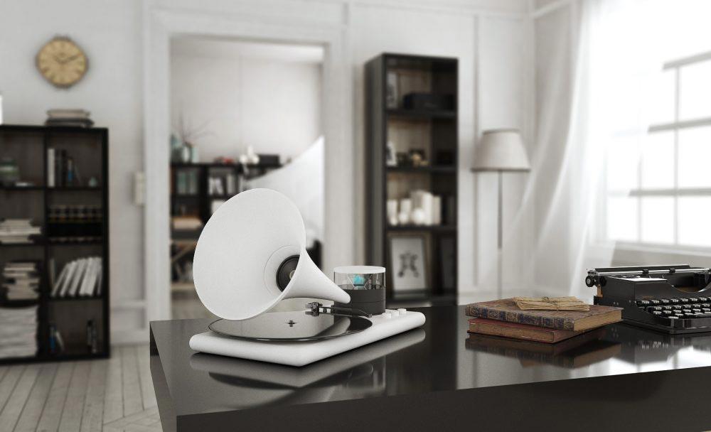 The Kozmophone in white