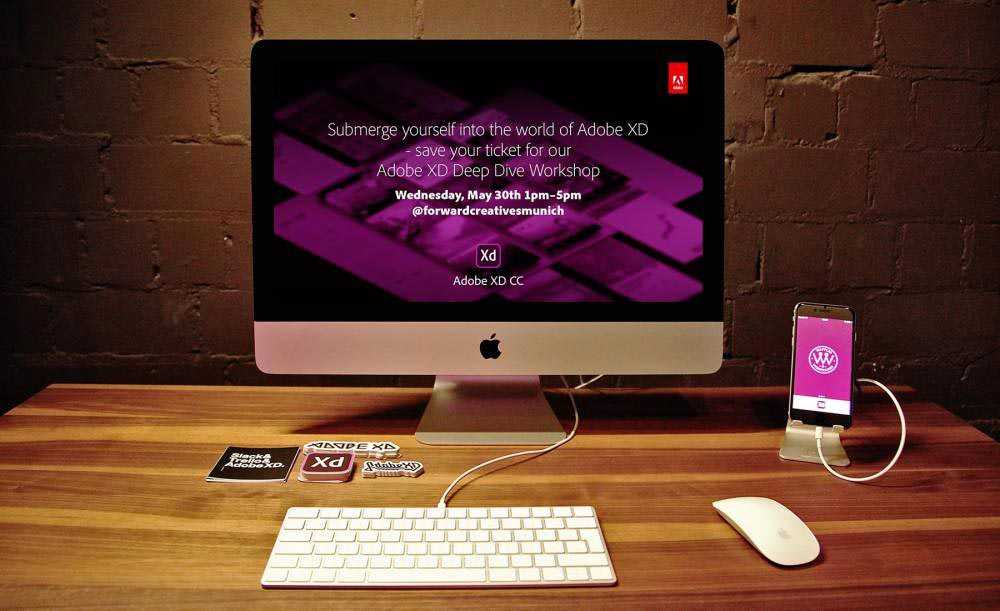 adobe-xd-workshop-forward-festival-claire-iMac-screen